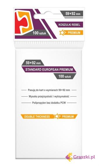 Koszulki na karty Rebel (59x92 mm) Standard European Premium, 100 sztuk